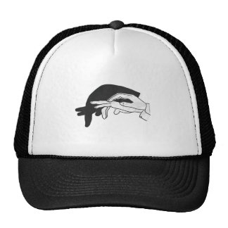 Hand Silhouette Anteater Mesh Hats