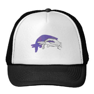 Hand Silhouette Anteater Purple Hats