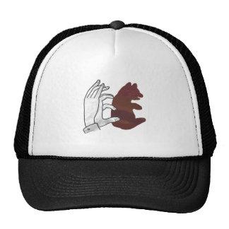 Hand Silhouette Bear Cub Brown Trucker Hat