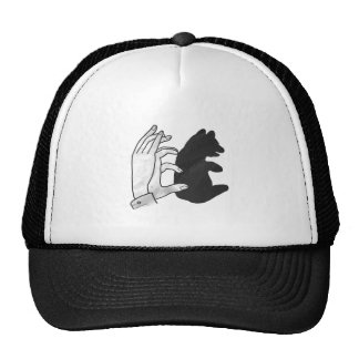 Hand Silhouette Bear Cub Trucker Hat
