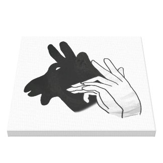 Hand Silhouette Billy Goat Canvas Print