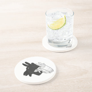 Hand Silhouette Billy Goat Beverage Coasters