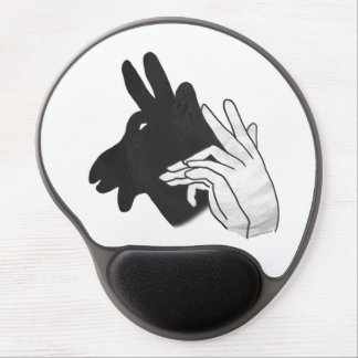 Hand Silhouette Billy Goat Gel Mouse Pad