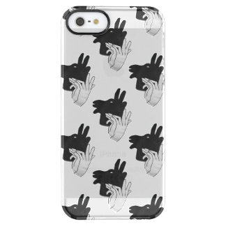 Hand Silhouette Billy Goat Gray Clear iPhone SE/5/5s Case