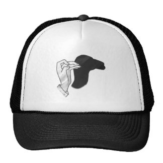 Hand Silhouette Camel Hats