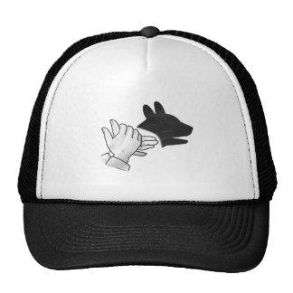 Hand Silhouette Dog Trucker Hats