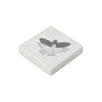 Hand Silhouette Eagle Stone Magnet