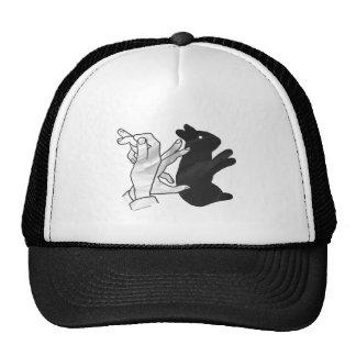 Hand Silhouette Rabbit Mesh Hat