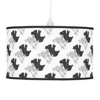 Hand Silhouette Rabbit Hanging Lamp