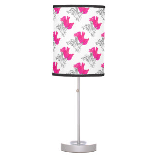 Hand Silhouette Rabbit Pink Lamps