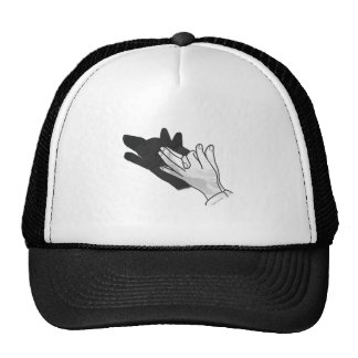 Hand Silhouette Wolf Hats