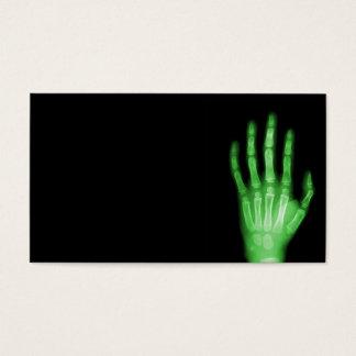 HAND SKELETON green XRAY DARK SCARY HUMAN BREAK BO Business Card
