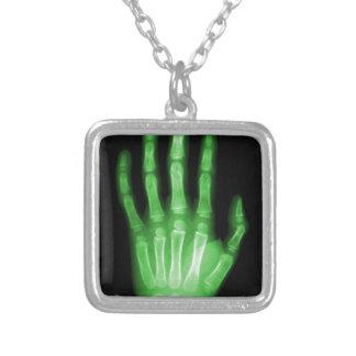 HAND SKELETON green XRAY DARK SCARY HUMAN BREAK BO Custom Necklace