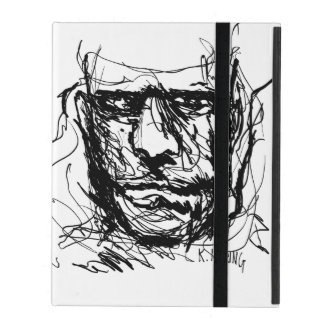 Hand sketch by Kevin Haring iPad Case
