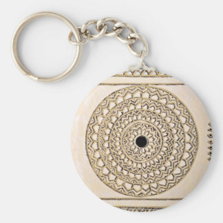 Hand sketched Indian pattern Basic Round Button Keychain