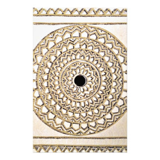 Hand sketched Indian pattern Stationery