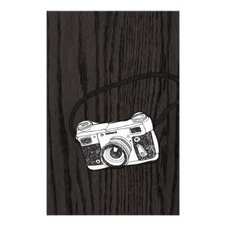 Hand Sketched Retro Camera Stationery