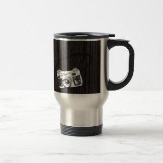 Hand Sketched Retro Camera Travel Mug