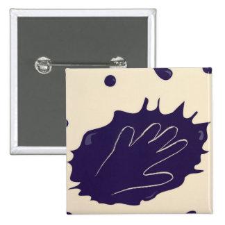 Hand splash pinback button