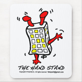 Hand Stand Building Mouse Pad
