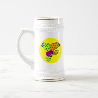 Hand Stand Clown mug