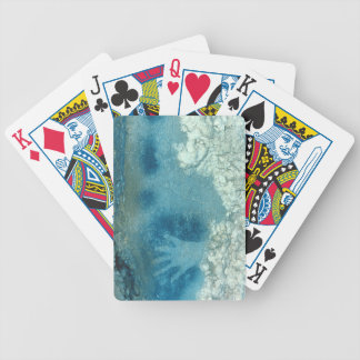 Hand stencil, from upper section of the Spotted Ho Bicycle Playing Cards