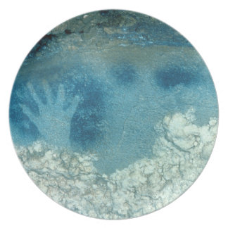 Hand stencil, from upper section of the Spotted Ho Party Plates