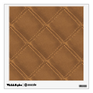 Hand Stitched Look : COWBOY Leather Art Wall Decal