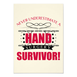 Hand Surgery Survivor Card