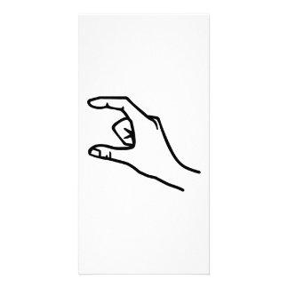 Hand symbol card