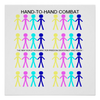 HAND-T0-HAND COMBAT... POSTER