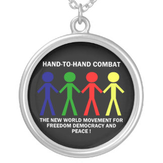 HAND-T0-HAND COMBAT... ROUND PENDANT NECKLACE