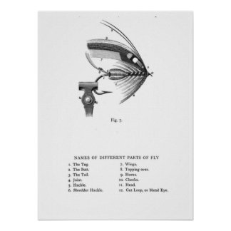 hand tied fishing fly poster