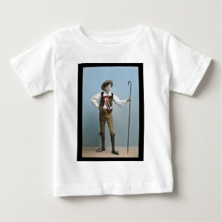 Hand Tinted Lantern Slide Boy From Alps Vintage Baby T-Shirt