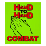 Hand To Hand Combat Prayer Sign Poster Christian