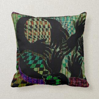 Hand to Hand CricketDiane Art Designer Pillow