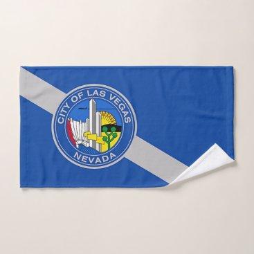 Hand Towel with Flag of Las Vegas City, USA