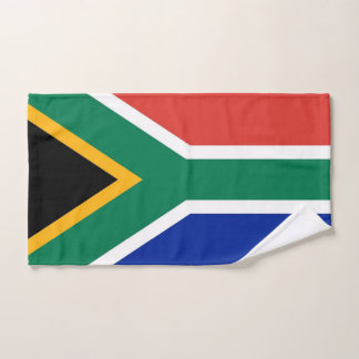 Hand Towel with Flag of South Africa