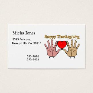 Hand Turkey Love Business Card