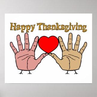 Hand Turkey Love Poster