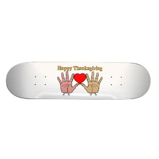 Hand Turkey Love Skateboard