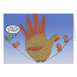 Hand Turkey on a wire Card