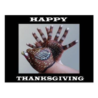 Hand Turkey postcard