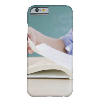 Hand turning page in book barely there iPhone 6 case