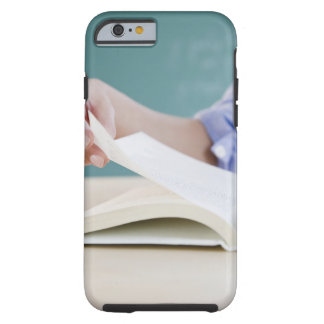 Hand turning page in book tough iPhone 6 case