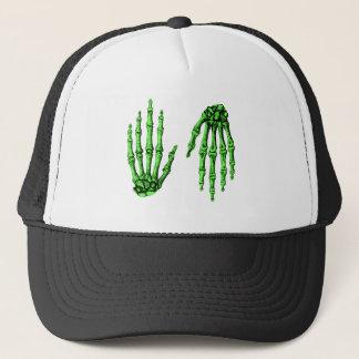 Hand Up Down Deep Green Trucker Hat