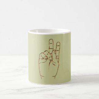 Hand V victory sign Coffee Mug