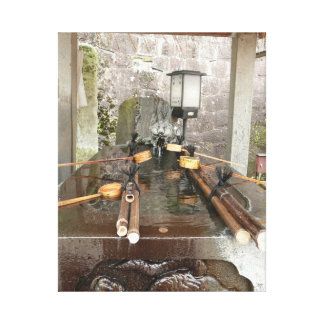 Hand Washing Area in Japan Temple Buddhist Shinto Canvas Print