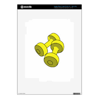 Hand Weights Decals For iPad 3
