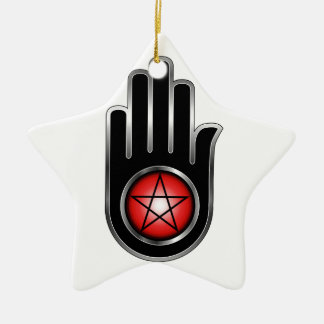 Hand with a Pentacle Christmas Tree Ornaments